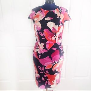 NWT Vince Camuto 12 floral body con stretch dress